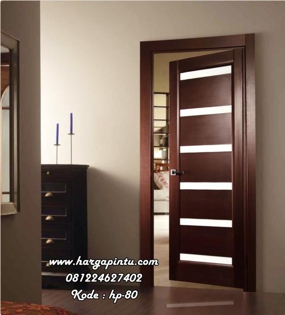Pintu Kamar Modern Panel Kaca Minimalis