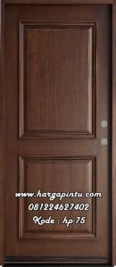 Pintu Single Minimalis Kamar Tidur Walnut