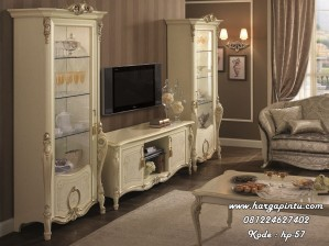 Set Bufet Tv Kabinet Klasik Elegan