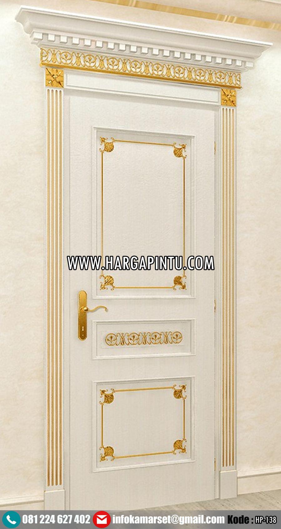 Pintu Kamar Mewah Klasik Gold Duco HP-138