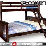 Tempat Tidur Tingkat Coklat