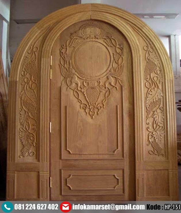 Pintu Lengkung Model Ukir Kayu Jati HP-151