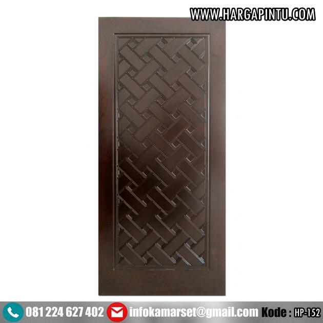 Pintu Motif Anyaman Kayu Jati Jepara