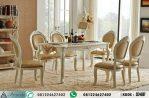 Set Kursi Makan Klasik Putih Elegan