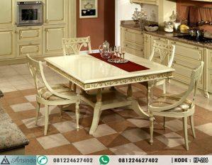 Meja Makan 4 Kursi Klasik Gold HP-206