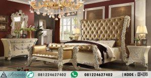 Tempat Tidur Klasik Ukir Mawar