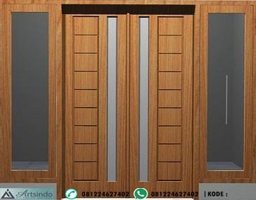 pintu minimalis motif kotak kotak