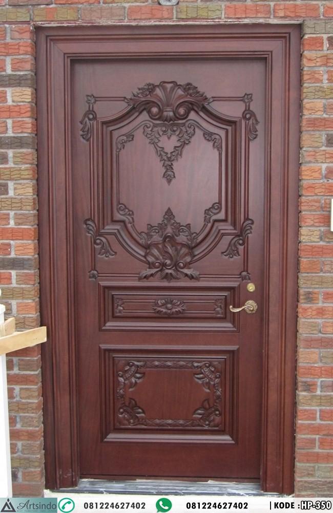 Pintu Single Mewah Ukir Klasik Eropa HP-350