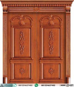 Pintu Utama Ukir Mewah Doubel Kayu Jati HP-351