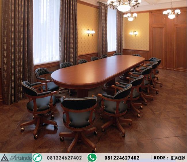 Set Meja Meeting Oval Mewah HP-339
