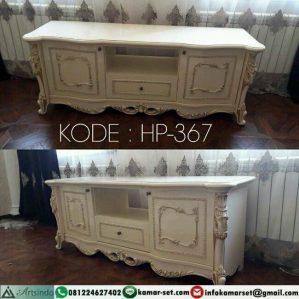 Meja TV klasik Putih Terbaru HP-367