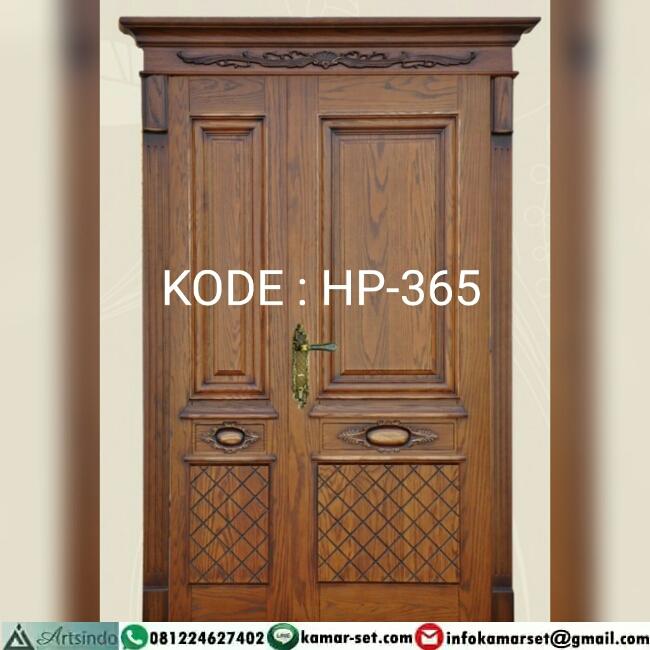Pintu Utama Jati Klasik Buka Satu HP-365