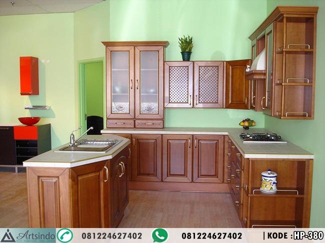 Model Kitchen Set Kayu Desain Klasik Ukir Minimalis Mebel Jepara