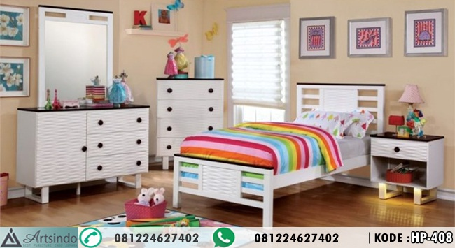 Tempat Tidur Anak Perempuan Minimalis Kasur Single
