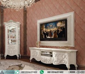 Meja TV Klasik With Wall Frame Ukiran