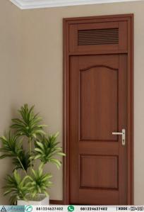 Pintu Kamar Minimalis Jati Lubang Angin Jalusi