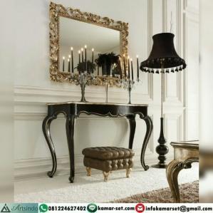 Meja Konsul Black Gold Klasik Elegant