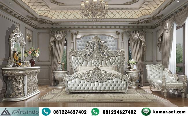 Set Kamar Tidur Ukiran Silver Klasik