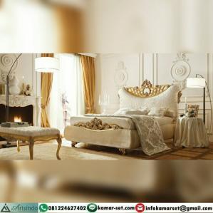 Tempat Tidur Klasik Gold Mewah Elegant HP-471