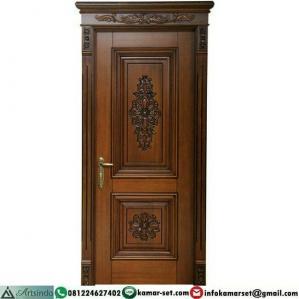 Pintu Kamar Kayu Jati Ukiran HP-480