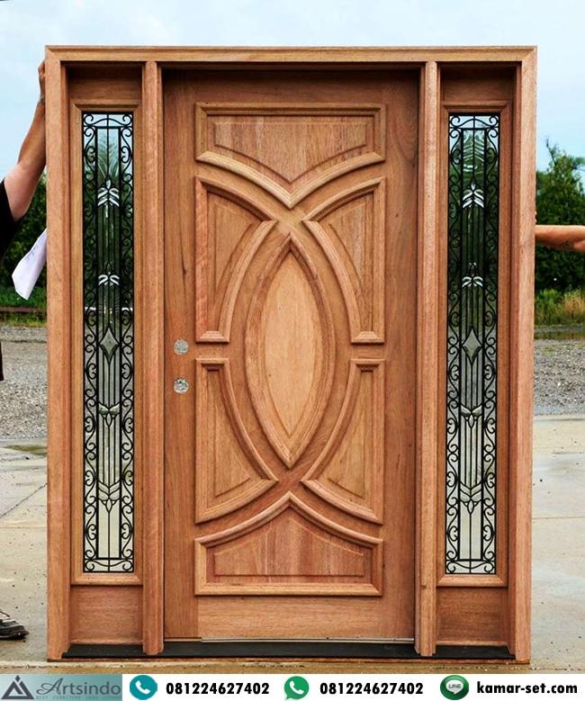 Pintu Utama Single Jendela Sambung Kanan Kiri