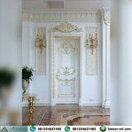 Pintu Ukir Klasik Putih Gold Eropa HP-489
