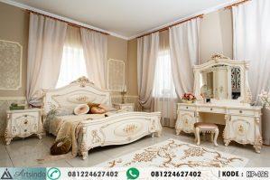Set Tempat Tidur Dewasa Model Klasik Lukisan HP-492
