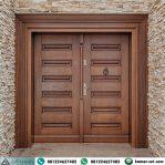 Pintu Utama Kupu Tarung Minimalis Klasik Modern Kayu Jati