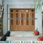 Model Pintu Garasi Minimalis Kayu Jati