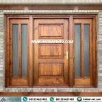 Pintu Utama Kusen Jendela Sambung Kayu Jati Model Daun Pintu Single
