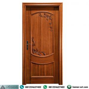 Model Pintu Kamar Kayu Jati Ukir Simpel
